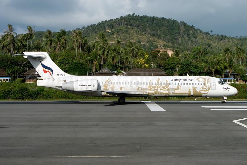 Bangkok Air (Bangkok Airways) Boeing 717-23S HS-PGO (msn 55067) (Angkor Wat) USM (Gunter Mayer). Image: 910852.