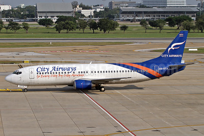 City Airways (Thailand) Boeing 737-4Y0 HS-GTA (msn 24688) (Go Every City by City Airways) DMK (Michael B. Ing). Image: 910579.