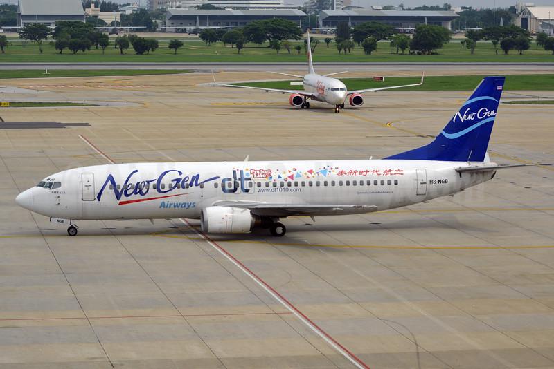 New Gen Airways (Sabaidee Airways) Boeing 737-4H6 HS-NGB (msn 27673) (Pocket Life) DMK (Jay Selman). Image: 402666.