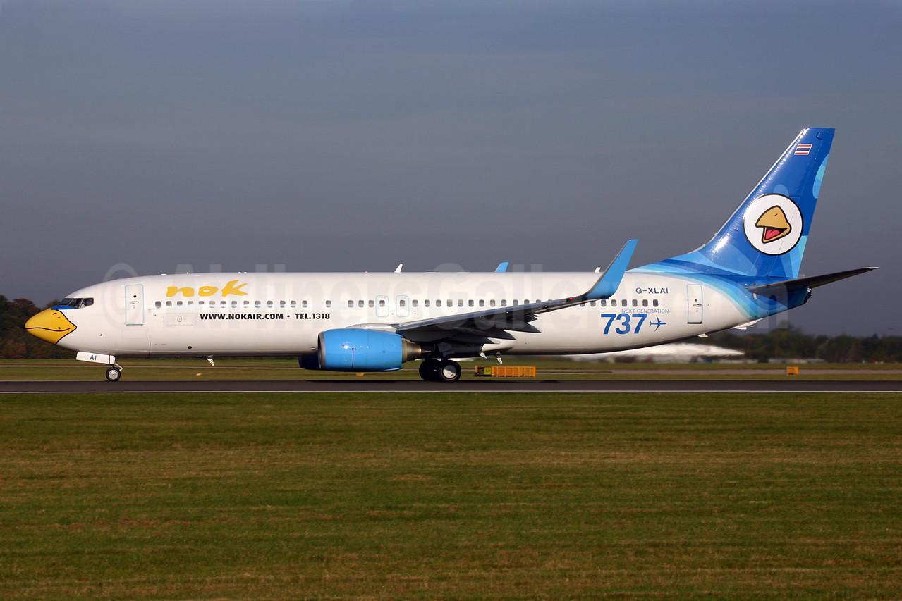 Nok Air (XL Airways UK) Boeing 737-8Q8 WL G-XLAI (msn 30702) (XL Airways colors) MAN (Andrew Yarwood). Image: 904344.