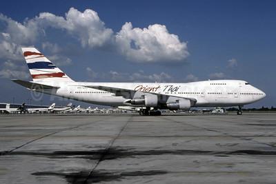 Orient Thai Airlines Boeing 747-246B HS-UTI (msn 21031) BKK (Bruce Drum Collection). Image: 944953.