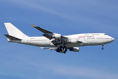 Orient Thai Airlines Boeing 747-412 HS-STC (msn 26548) BKK (Michael B. Ing). Image: 921765.