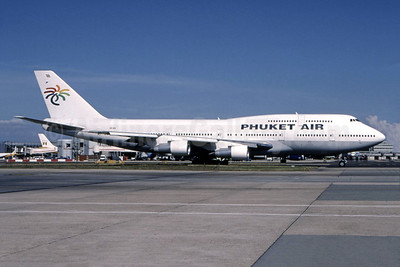 Phuket Air Boeing 747-312 HS-VAN (msn 23245) LGW (Keith Irwin - Bruce Drum Collection). Image: 944369.