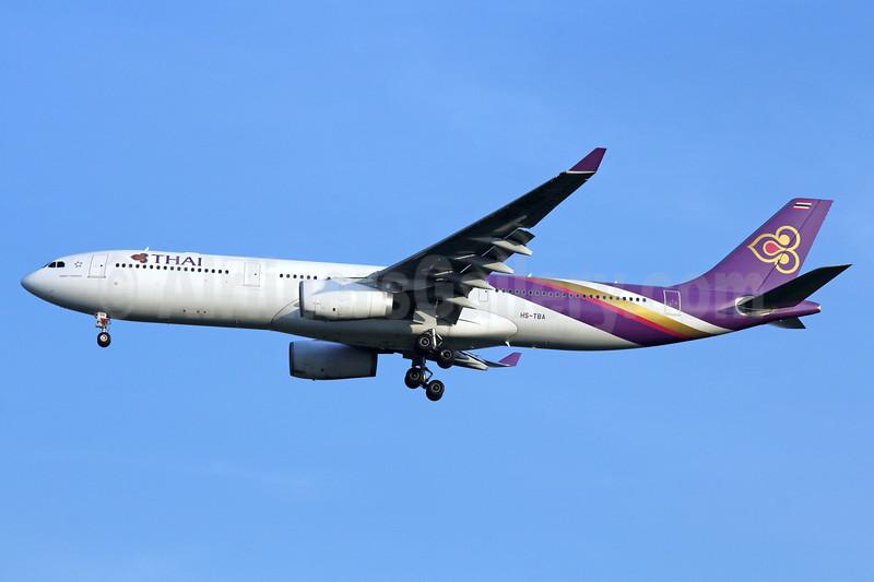 Thai Airways International Airbus A330-343 HS-TBA (msn 1263) BKK (Michael B. Ing). Image: 935692.