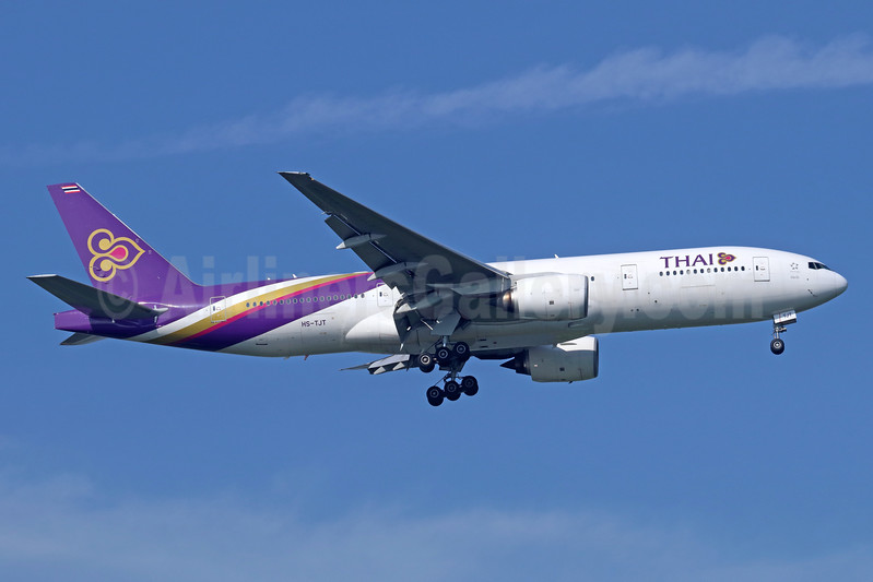 Thai Airways International Boeing 777-2D7 ER HS-TJT (msn 34588) BKK (Michael B. Ing). Image: 937172.