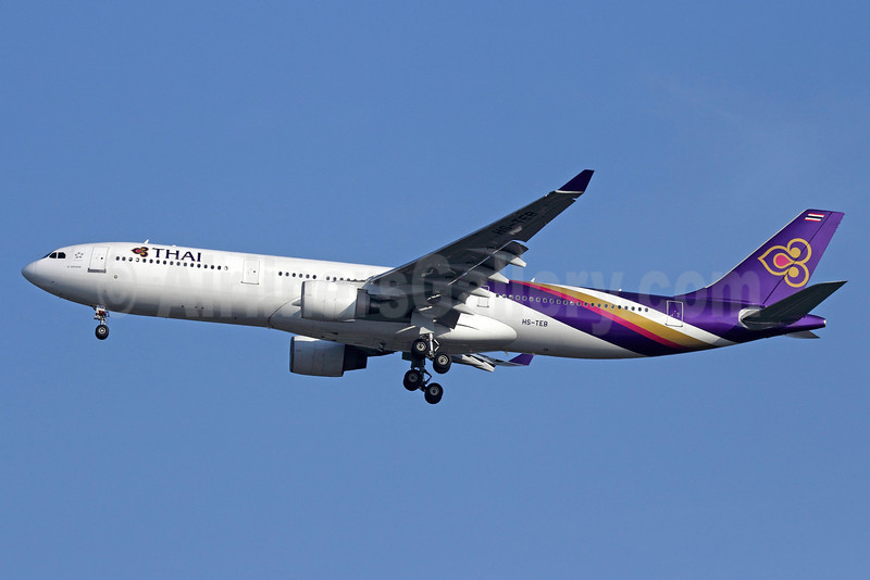 Thai Airways International Airbus A330-321 HS-TEB (msn 060) BKK (Michael B. Ing). Image: 911275.