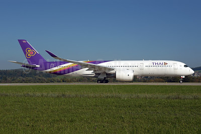 Thai Airways International Airbus A350-941 HS-THL (msn 185) ZRH (Rolf Wallner). Image: 955576.