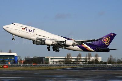 Thai Airways International Boeing 747-4D7 HS-TGB (msn 32370) LHR (SPA). Image: 937182.