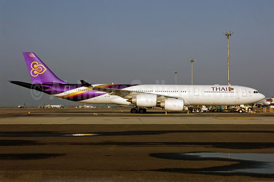 Thai Airways International Airbus A340-541 HS-TLB (msn 628) JFK (Ken Petersen). Image: 908107.