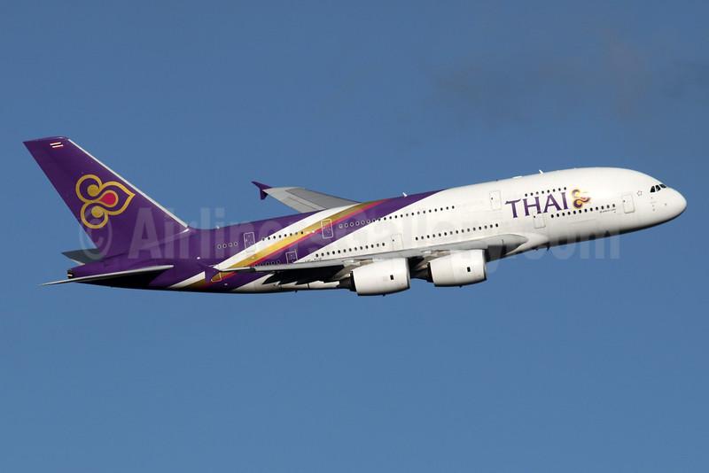 Thai Airways International Airbus A380-841 HS-TUE (msn 125) LHR (SPA). Image: 935870.