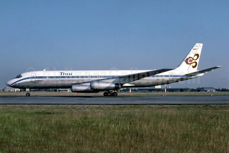 Thai Airways International McDonnell Douglas DC-8-62CF HS-TGZ (msn 46129) (Arista colors) DMK (Fernandez Imaging Collection). Image: 935697.