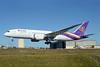 Thai's first Boeing 787-8 Dreamliner