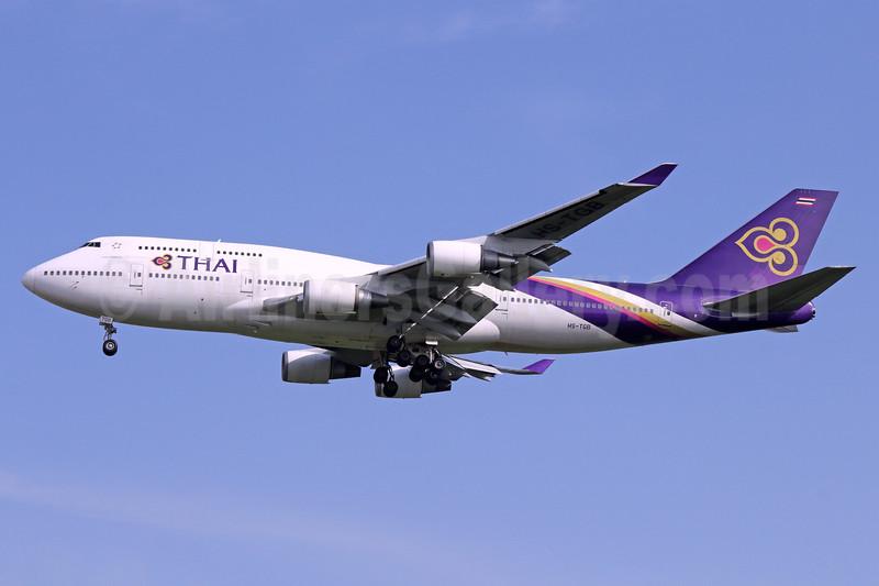 Thai Airways International Boeing 747-4D7 HS-TGB (msn 32370) BKK (Michael B. Ing). Image: 937181.