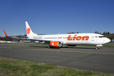 Thai Lion Air Boeing 737-9GP ER WL HS-LTP (msn 38301) BFI (Steve Bailey). Image: 925531.