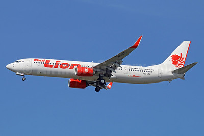 Thai Lion Air Boeing 737-9GP ER WL HS-LTI (msn 38738) DMK (Michael B. Ing). Image: 939274.
