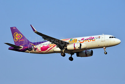"Thai Smile's 2015 ""Adventure Time - Cartoon Network Amazone"" logo jet"