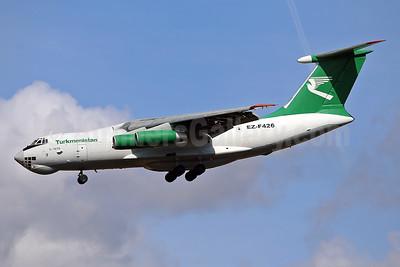 Turkmenistan Airlines Ilyushin Il-76TD EZ-F426 (msn 1033418609) STN (Keith Burton). Image: 940026.
