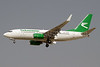 Turkmenistan Airlines Boeing 737-72K WL EZ-A009 (msn 37235) DXB (Paul Denton). Image: 912805.