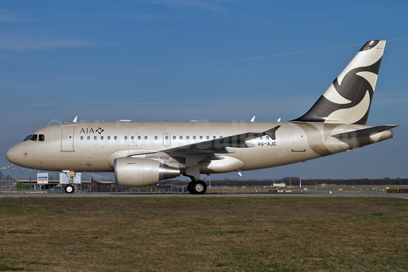 AJA (Al Jaber Aviation) Airbus A318-112 (ACJ Elite) A6-AJC (msn 3985) MUC (Arnd Wolf). Image: 906245.