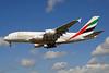 Emirates Airline Airbus A380-861 A6-EDB (msn 013) LHR (Bruce Drum). Image: 101612.