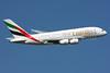 Emirates Airline Airbus A380-861 A6-EES (msn 140) (Expo 2020 Dubai UAE) LHR (SPA). Image: 924587.
