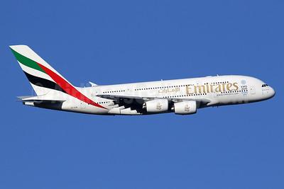 Emirates Airline Airbus A380-861 A6-EDW (msn 103) (Expo 2020 Dubai UAE) LHR (SPA). Image: 935798.
