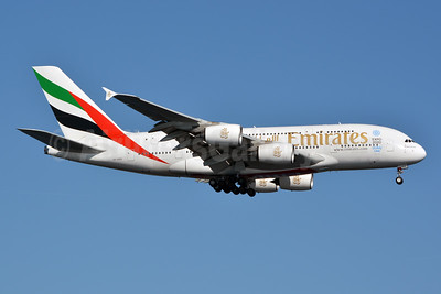 Emirates Airline Airbus A380-861 A6-EEH (msn 119) (Expo 2020 Dubai UAE) JFK (Jay Selman). Image: 402373.