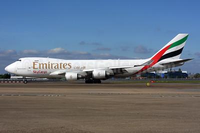 Emirates SkyCargo (Emirates Airline) (TNT Airways) Boeing 747-4HAF OO-THC (msn 35235) LHR. Image: 937599.