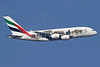 Emirates Airline Airbus A380-861 A6-EEI (msn 123) (United for Wildlife)  LHR (SPA). Image: 940177.