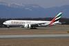 Emirates Airline Boeing 777-21H LR A6-EWD (msn 35577) GVA (Paul Denton). Image: 909921.