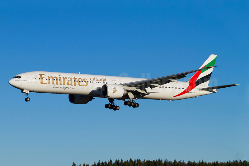 Emirates Airline Boeing 777-31H ER A6-ECV (msn 35594) ARN (Stefan Sjogren). Image: 921494.
