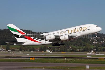 Emirates Airline Airbus A380-861 A6-EUL (msn 224) ZRH (Andi Hiltl). Image: 944354.