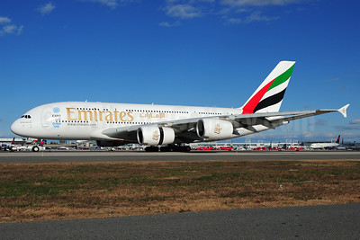 Emirates Airline Airbus A380-861 A6-EEL (msn 133) (Expo 2020 Dubai UAE) JFK (Fred Freketic). Image: 935499.
