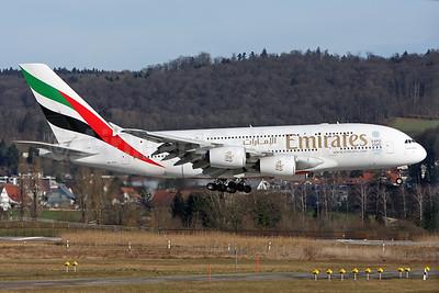 Emirates Airline Airbus A380-861 A6-EDL (msn 046) ZRH (Andi Hiltl). Image: 926048.