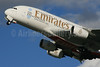 Emirates Airline Airbus A380-861 A6-EEX (msn 154) (Expo 2020 Dubai UAE) LHR (SPA). Image: 926617.
