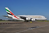 Emirates Airline Airbus A380-861 A6-EDF (msn 007) LHR (Dave Glendinning). Image: 909286.