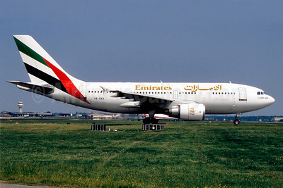 Emirates Airline Airbus A310-304 A6-EKB (msn 436) LGW (SM Fitzwilliams Collection). Image: 909990.
