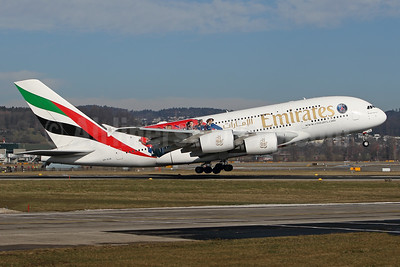 Emirates Airline Airbus A380-861 A6-EUB (msn 213) (Expo 2020 Dubai UAE) (Paris Saint-Germain) ZRH (ANDI HILTL). IMAGE: 941158.