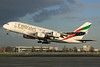 Emirates Airline Airbus A380-861 A6-EDW (msn 103) (Expo 2020 Dubai UAE) LHR (SPA). Image: 935799.
