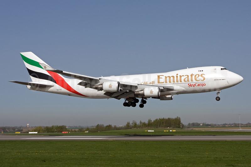 Emirates SkyCargo (Emirates Airline) (TNT Airways) Boeing 747-4HAF OO-THC (msn 35235) LGG (Michael Stappen). Image: 907133.