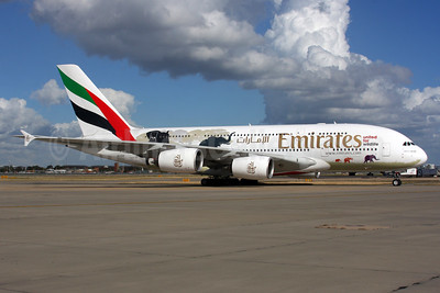 "The second ""United for Wildlife"" A380 logo jet"