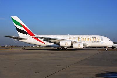 Emirates Airline Airbus A380-861 A6-EOK (msn 184) (Expo 2020 Dubai UAE) LHR. Image: 937011.