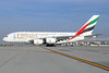 Emirates Airline Airbus A380-861 A6-EOF (msn 171) LAX. Image: 932599.