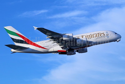 Emirates Airline Airbus A380-861 A6-EOL (msn 186) (Expo 2020 Dubai UAE) LAX (Michael B. Ing). Image: 937012.