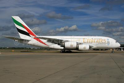 Emirates Airline Airbus A380-861 A6-EOJ (msn 182) (Expo 2020 Dubai UAE) LHR. Image: 933976.