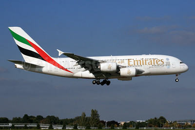 Emirates Airline Airbus A380-861 A6-EED (msn 111) (Expo 2020 Dubai UAE) LHR (SPA). Image: 930556.