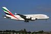 Emirates Airline Airbus A380-861 A6-EED (msn 111) (Expo 2020 Dubai UAE) LHR (SPA). Image: 930556.