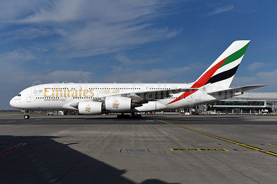 Emirates Airline Airbus A380-861 A6-EDY (msn 106) PRG (Ton Jochems). Image: 944352.