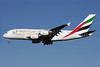 Emirates Airline Airbus A380-861 A6-EDH (msn 025) (6000th Airbus) LHR (Antony J. Best). Image: 904525.
