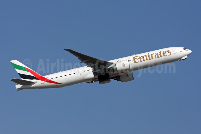 Emirates Airline Boeing 777-36N ER A6-EBY (msn 33864) ZRH (Andi Hiltl). Image: 907240.